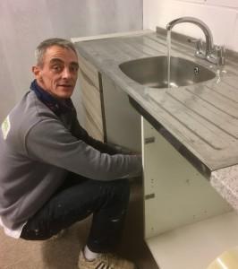 Installing sink